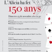 """Exposició sobre """"L'Alícia fa 150 anys"""" al CRAI Biblioteca del Campus de Mundet"""