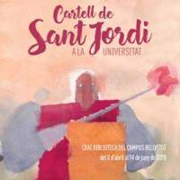 Cartell de Sant Jordi a la Universitat. Nova exposició al CRAI Biblioteca del Campus Bellvitge