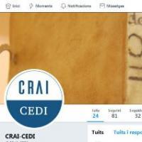 Nou compte de Twitter al CRAI de la UB: @CRAI_CEDI