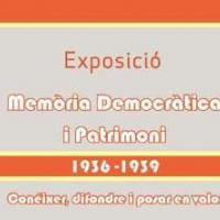 Exposició itinerant Memòria Democràtica i Patrimoni (1936-1939), de la Universitat de València