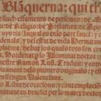 """Us convidem a participar a la lectura de """"Blaquerna"""", de Ramon Llull, a la Setmana del Llibre en Català"""