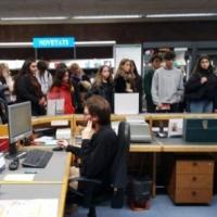 Visita al CRAI Biblioteca d'Economia i Empresa durant les Jornades de portes obertes 2019