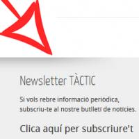 Novetats a l'espai del TÀCTIC: Subscriviu-vos a la newsletter
