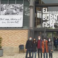 Visita cultural de l'equip del CRAI Biblioteca del Campus de Mundet al Born CCM