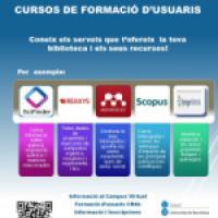 Nous cursos de formació d'usuaris per al mes de febrer al CRAI Biblioteca de Física i Química