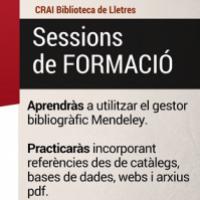 Gestor Mendeley. Sessions de formació al CRAI Biblioteca de Lletres