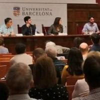 """Seminari Internacional """"Història i memòria de les Brigades Internacionals"""" a l'Aula Magna de la Universitat de Barcelona,"""