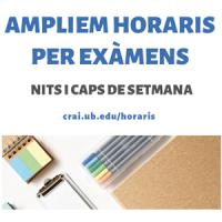 Els CRAI Biblioteques de la UB amplien horaris en període d'exàmens