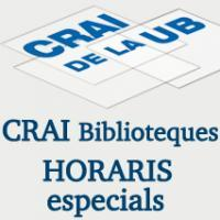 Ampliació d'horaris als CRAI Biblioteques de la UB en el període d'exàmens