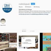Nou compte d'Instagram al CRAI de la UB: @craibiologiaub
