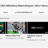 Nou canal YouTube al CRAI Biblioteca de Matemàtiques i Informàtica