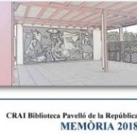 Publicada la Memòria 2018 del CRAI Biblioteca del Pavelló de la República