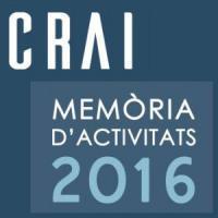 Publicada la Memòria d'Activitats 2016 del CRAI de la Universitat de Barcelona