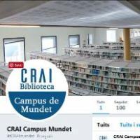 Nou compte de Twitter al CRAI de la UB: @CRAImundet