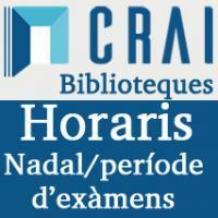 Horaris de Nadal als CRAI Biblioteques de la Universitat de Barcelona