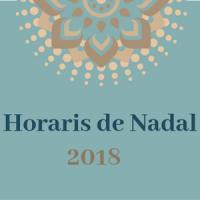 Horaris de Nadal 2018 als CRAI Biblioteques de la UB