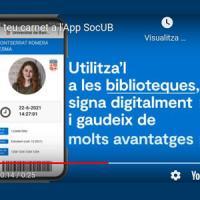 El CRAI a l'app SocUB: Cercabib i carnet digital
