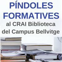 Píndoles formatives al CRAI Biblioteca del Campus Bellvitge