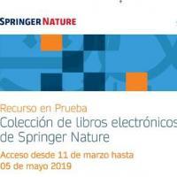 Springer Nature. Llibres electrònics en període de prova