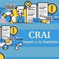 Presentació sobre el suport a la docència i a l'aprenentatge ofert pel CRAI