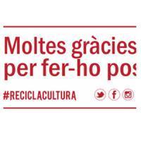 """Gràcies per ser solidari i participar a """"Recicla Cultura"""""""