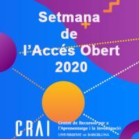 Setmana de l'Accés Obert 2020 al CRAI de la UB