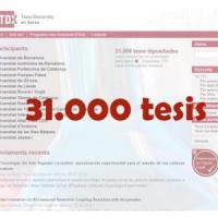 Una tesi de la Universitat de Barcelona, la número 31000 del repositori TDX