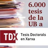 a Universitat de Barcelona incorpora la seva tesi número 6.000 a TDX