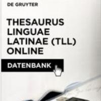 Thesaurus Linguae Latinae (TLL) Online. Nou recurs en prova