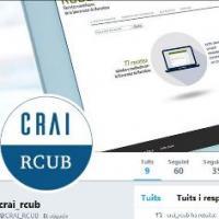 Nou compte de Twitter al CRAI de la UB: @CRAI_RCUB