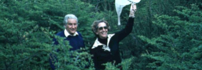 Antoni Prevosti i Maria Monclús en una sortida de camp