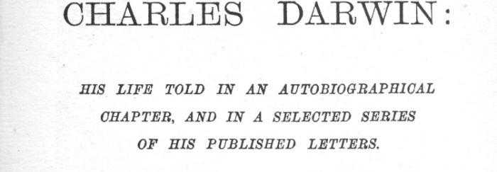 Portada de la biografia de Charles Darwin
