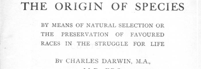 Portada de The origin of species