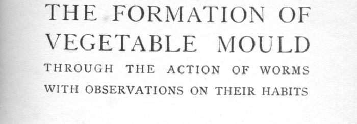 Portada de The formation of vegetable mould