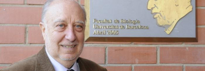 Juan Carlos Castilla a la Facultat de Biologia. © J. M. Rué, Universitat de Barcelona