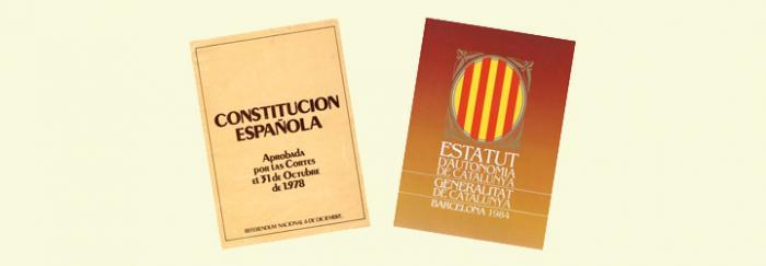 Portades Constitució - Estatut d'Autonomia