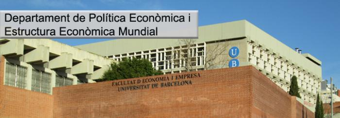 Departament de Política Econòmica i Estructura Econòmica Mundial