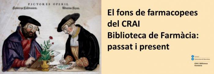 El fons de farmacopees del CRAI Biblioteca de Farmàcia: passat i present