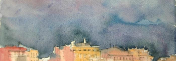 Llum de tempesta sobre Barcelona