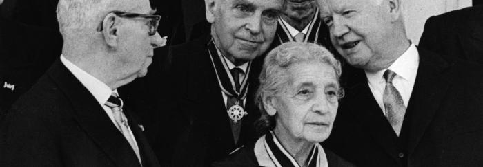Lise Meitner, Otto Hahn i Heinrich Lübke