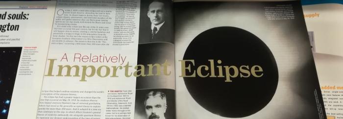100 anys de l'eclipsi que va donar la raó a Einstein