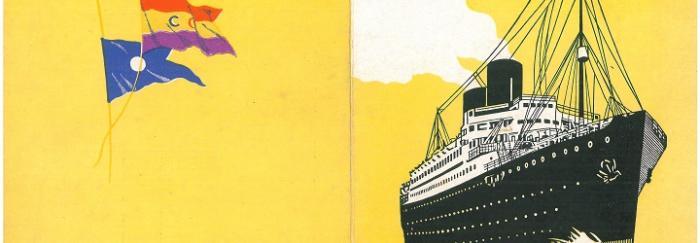 20. Imagen exterior del prospecto para el Crucero del 1934 editado por la  naviliera.