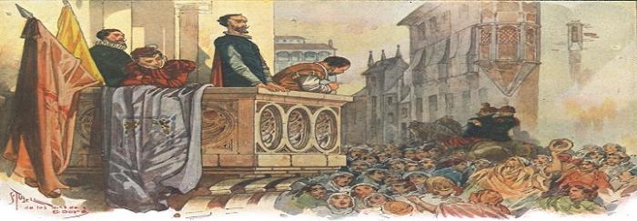 Parte2. Capítulo LXII. Quijote y Sancho en el balcón de la casa de Don Antonio Moreno en Barcelona
