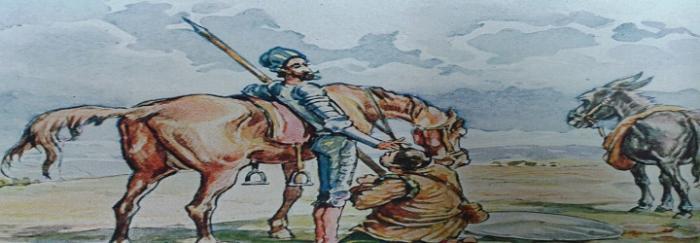 Parte1. Capítulo X. De los graciosos razonamientos que pasaron entre don Quijote y Sancho