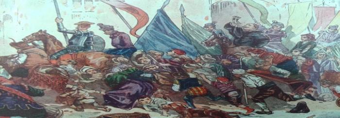 Parte2. Capítulo LXI. De lo que sucedió á don Quijote en la entra a Barcelona