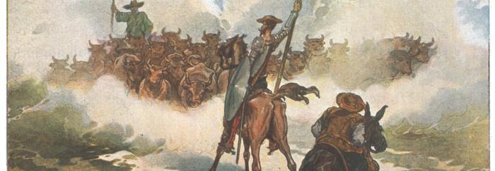 Parte 2. Capítulo LVIII. Don Quijote contra la manada de toros