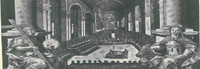 """06. Sesión del Concilio de Trento. En: Pietro SFORZA PALLAVICINO (1968). """"Storia del Concilio di Trento ed altri scritti"""". Milano : UTET."""