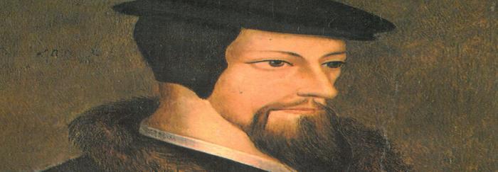 """04. Retrato de Juan Calvino. En: C. H. IRWIN (1991). """"Juan Calvino : su vida y su obra"""". Terrassa : Clie."""