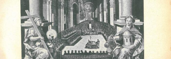 """07. Sesión del Concilio de Trento. En: Pietro SFORZA PALLAVICINO (1968). """"Storia del Concilio di Trento ed altri scritti"""". Milano : UTET."""