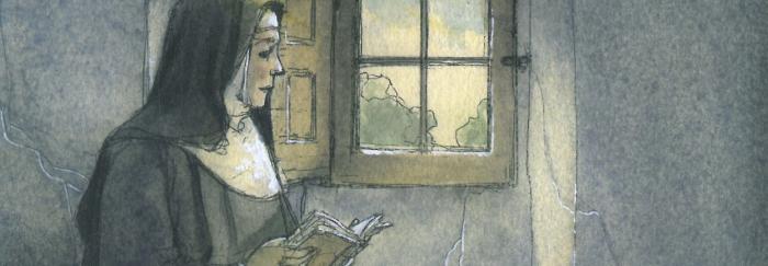 """04. Ilustración de Jordi Vila Delclòs. En: Rosa NAVARRO DURÁN (2013). """"La Vida y obra de Teresa de Jesús contada a los niños"""". Barcelona : Edebé."""